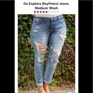 NWOT Chic Soul boyfriend jeans - 14